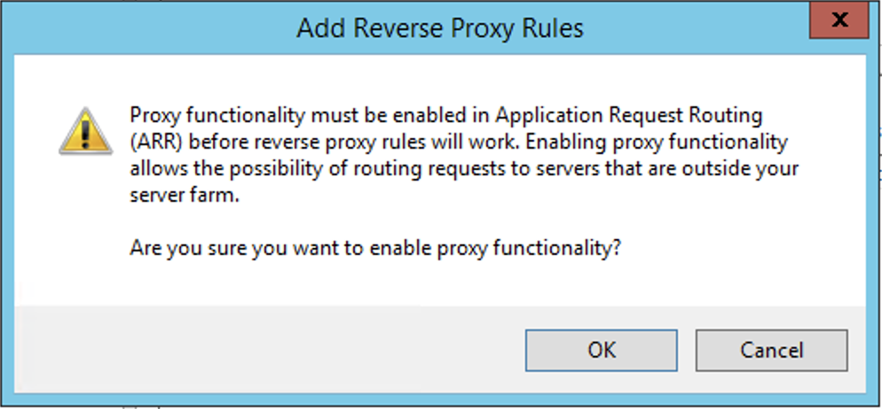 Enable proxy functionality