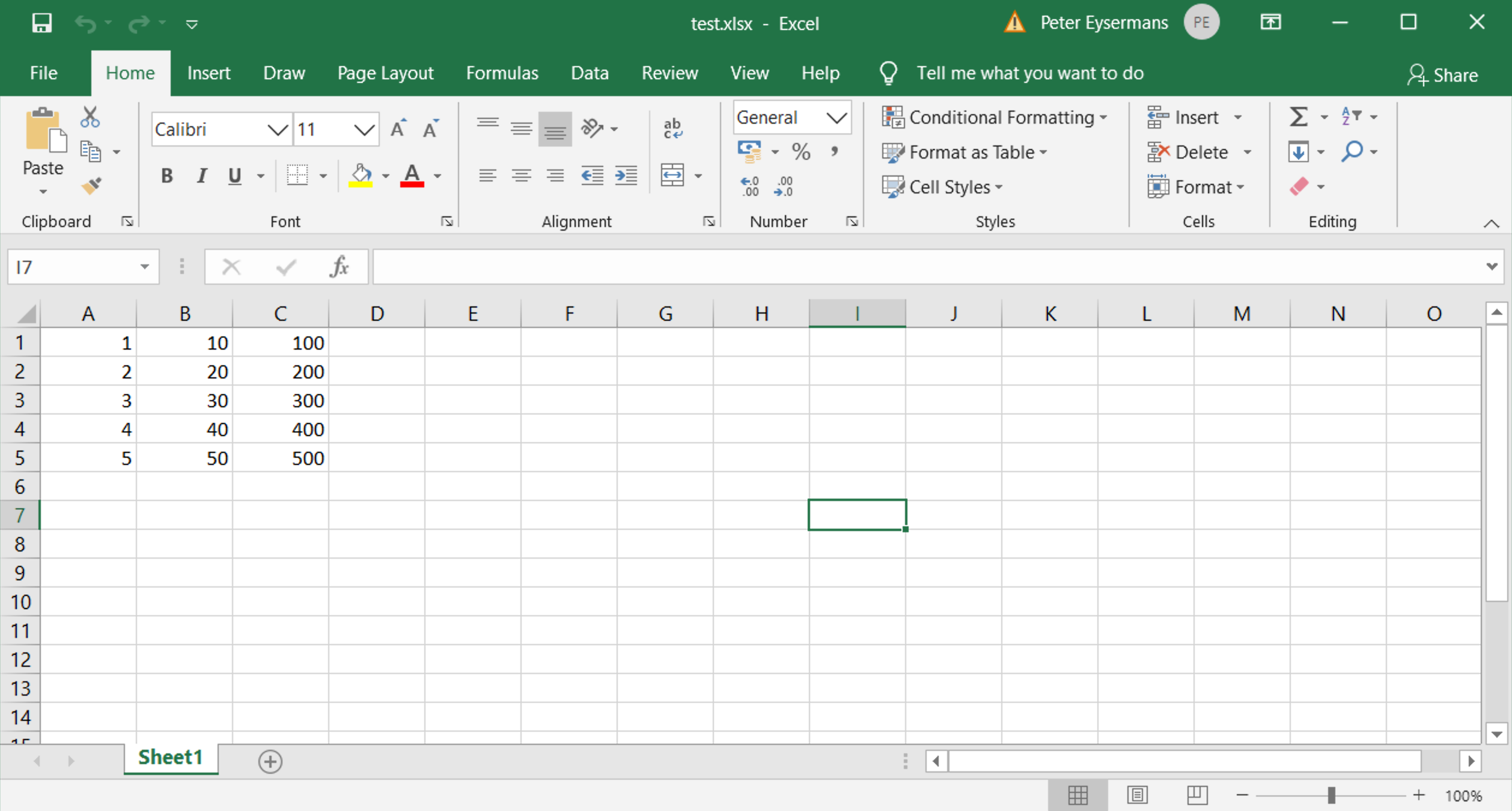 Write To Excel Using Range